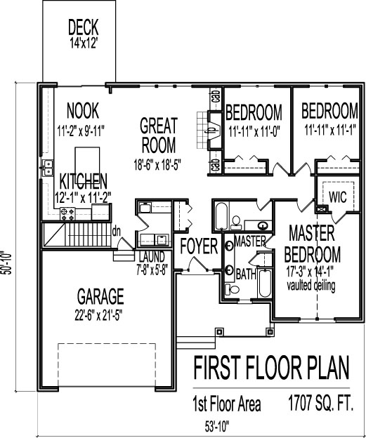 of houses elevation 3 bedroom house floor plans 1 story with basement