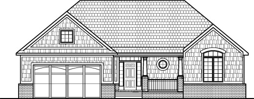 Shingle Style House Drawings Single Level 1700 Sq Montgomery Birmingham Alabama Huntsville Mobile Jackson Mississippi Biloxi
