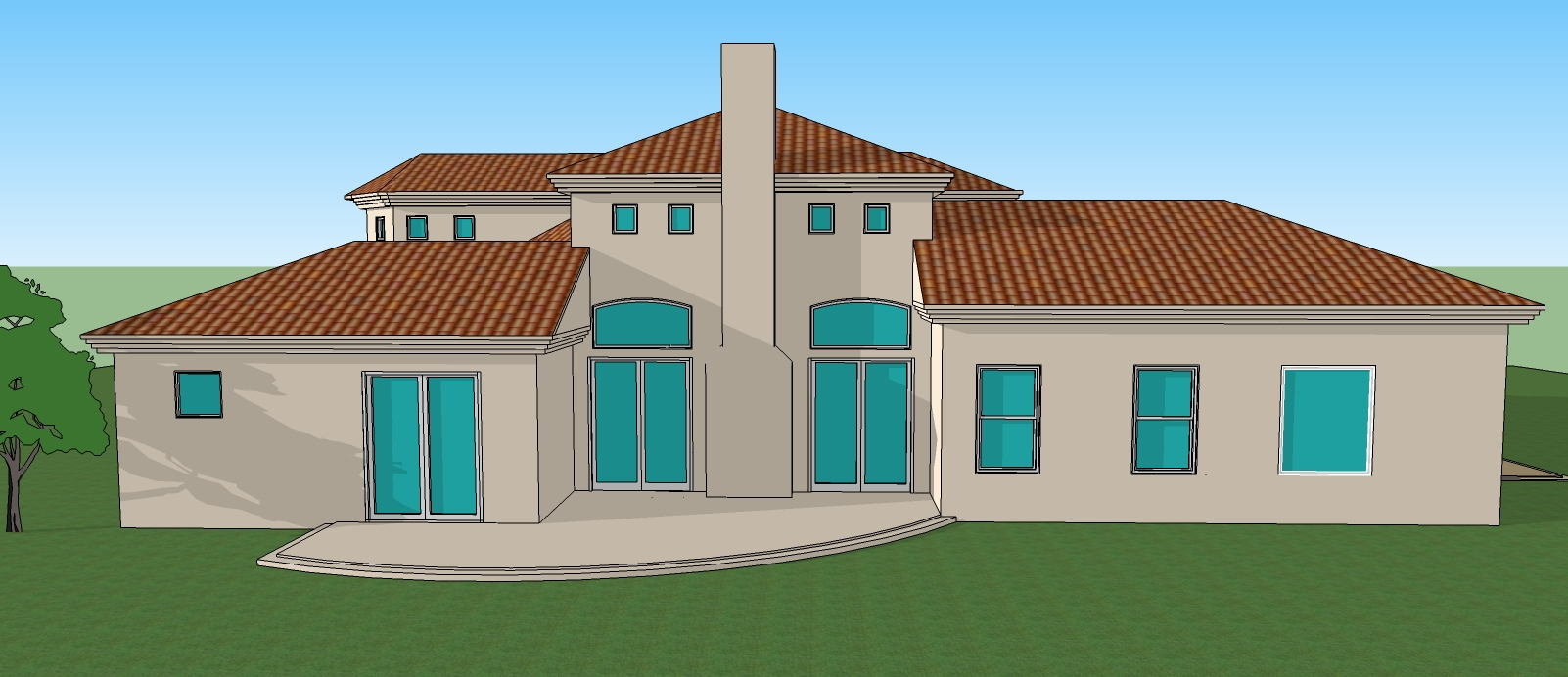 Simple 3d 3 Bedroom House Plans And View Drawings