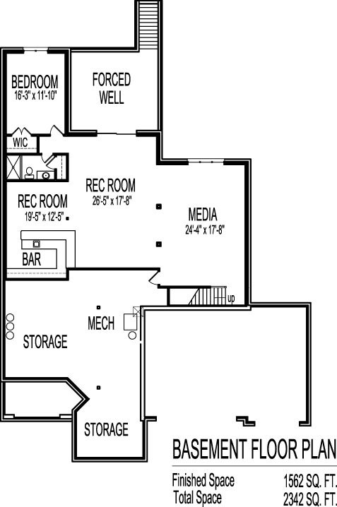 2 bedroom house plans with open floor plan bungalow with for House plans with 2 bedrooms in basement