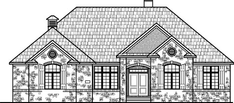 Stone Cottage Ranch House Floor Plans with 2 Car Garage 2 ... on