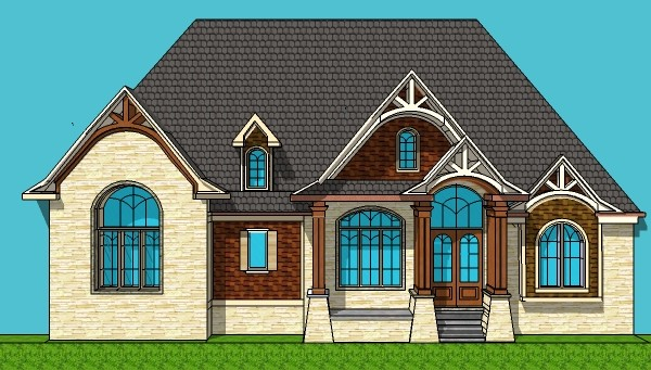 Two Bedroom 2 Bathroom Single Story Stone Cottage Architect Designed House Plans Blueprint Drawings 3 Car Garage and Basement Port Saint Lucie Florida Pembroke Pines Cape Coral Florida Hollywood Gainesville Florida Miramar Coral Springs