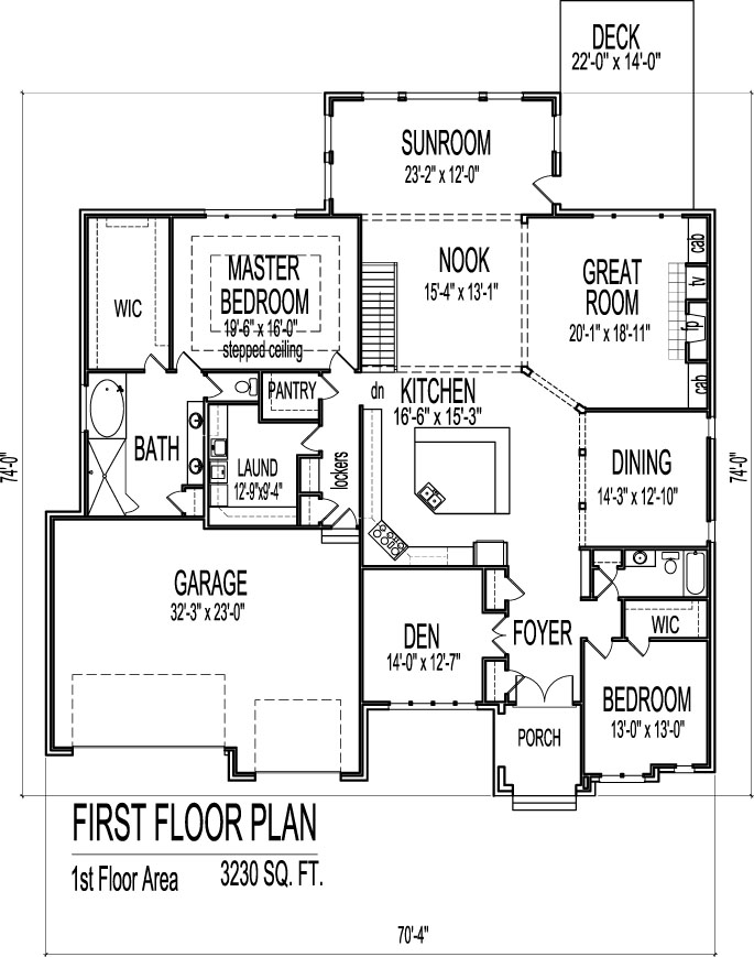 Modern Bungalow House Floor Plans Design Drawings 2 Bedroom 1 Story