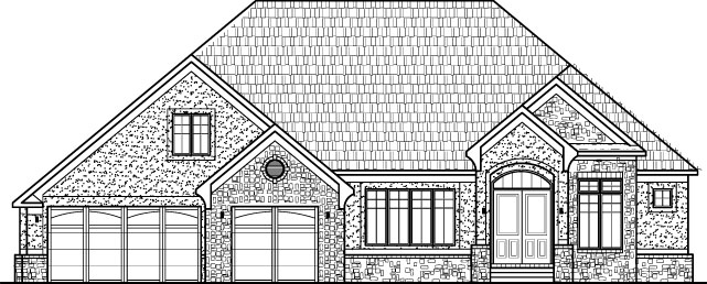 tudor style house plans custom luxury sf 3 bedroom 2 bath baement 3 car garage