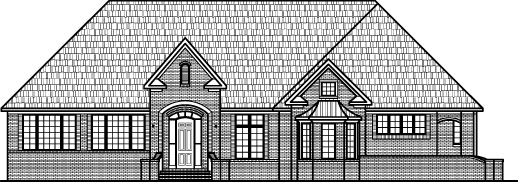 Gothic 1 Storey 3 Bedroom 3000 SF House Plans 2 Bath Basement Garage Indianapolis Ft Wayne Indiana Cincinnati Chicago Minneapolis Madison Evansville Dallas Noblesville Indiana