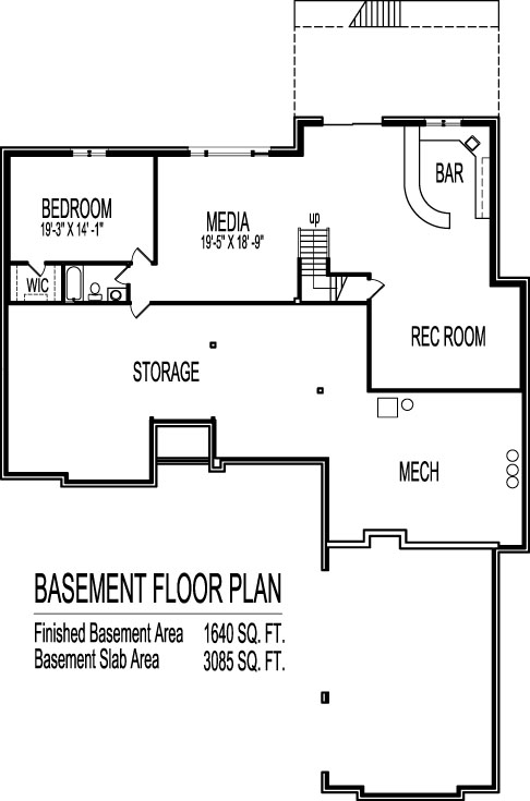 stone 3200 sf architect home plan design 1 level 3 bedroom 3 bath basement 3 car - 3 Bedroom House Plans With Rec Room