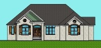 3 BR 3500 SF Ranch Floor Plans Brick with Front Porch Vancouver Toronto Canada Montreal Ottawa Seattle Tacoma Washington DC Spokane Oklahoma City Tulsa Little Rock Arkansas