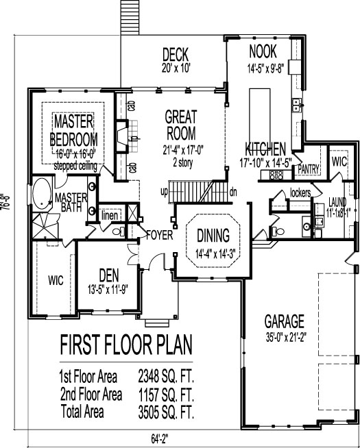 Stone tudor style house floor plans drawings 4 bedroom 2 for 4 bedroom 2 bath 2 car garage house plans