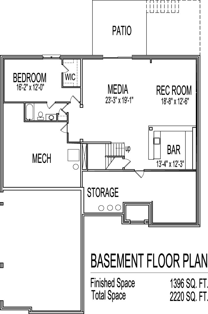 House plans and design house plans two story with basement for Unique 3 bedroom house plans