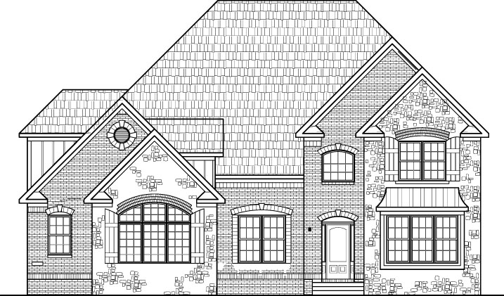 Unique Stone House Plans Two Story Five Bedroom 5 Bath Basement 3 Car Garage Cincinnati Cleveland