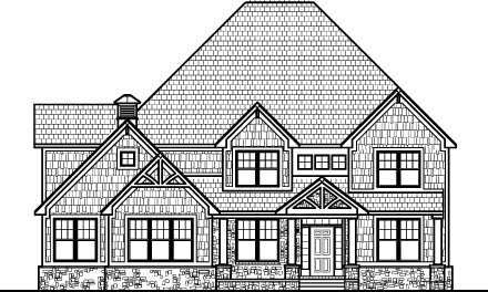 4 Bedroom 2 Story 3500 SF Stone Shingle House Plans Indianapolis Ft Wayne Evansville Indiana South Bend Lafayette Bloomington Gary Hammond Indiana Muncie Carmel Anderson