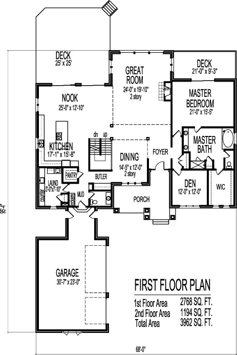 Modern open floor house plans two story 4 bedroom 2 story for Modern 1 bedroom house plans