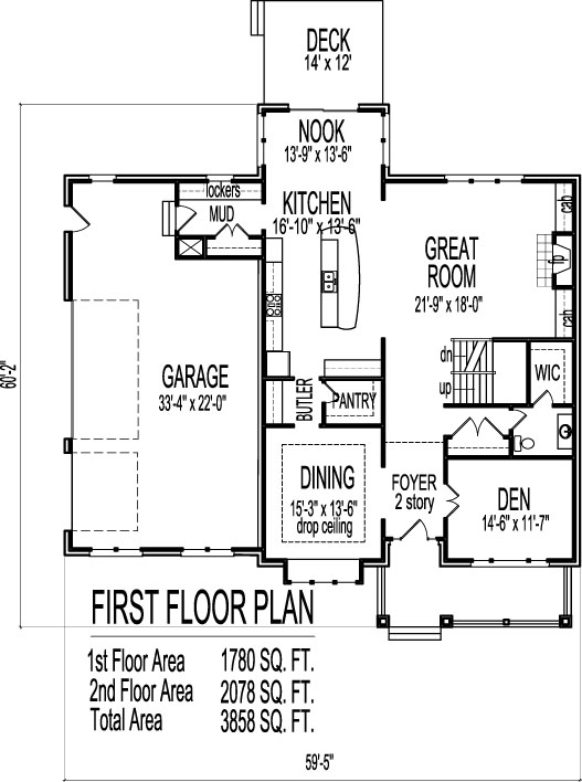 Two story home floor plans find house plans for Two story porch house plans