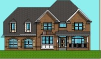 2500 SF 4 bedroom 2 Story House Plans Jacksonville Florida FL Tallahassee Portland Oregon OR Eugene Virginia Beach VA Virginia Arlington Wichita KS Kansas Topeka