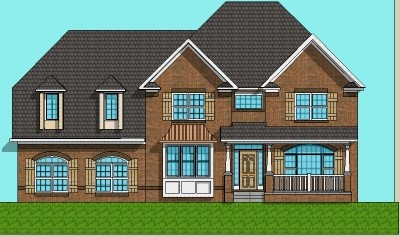 Front design of 2 story house home design and style for Two story house drawing