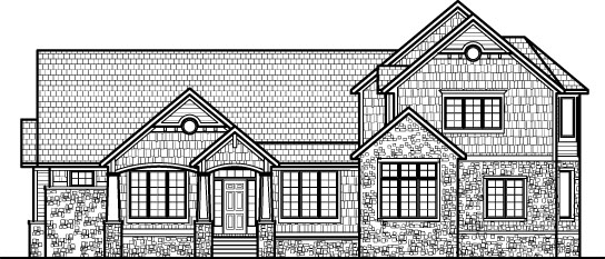 4 bedroom 4000 sf home 2 story craftsman style stone shingle basement chicago peoria springfield illinois - Draw House Plans