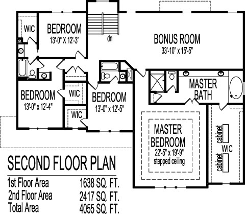 Country Farmhouse House Plans 4 Bedroom Bath 4000 SF Two