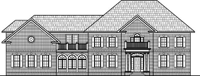 Colonial Home Plans Circular Stair 5000 SF 2 Story 4 BR 5 Bath 4 Car Garage Basement Chicago Peoria Springfield Illinois Rockford Champaign Bloomington Illinois Aurora Joliet Naperville Illinois Elgin Waukegan