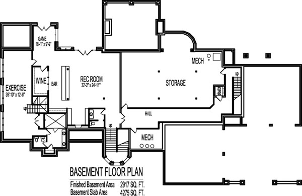 Awesome 4 Bedroom House Floor Plans 10,000 Sq Ft 2 Story Dream Home