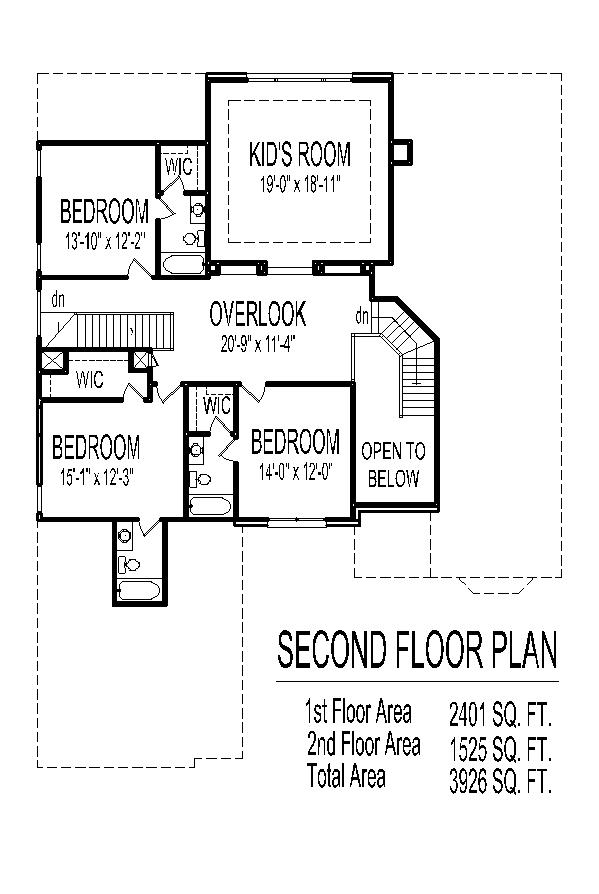 House designs drawings blueprints 4 bedroom 2 story with 3 House plans mcallen tx