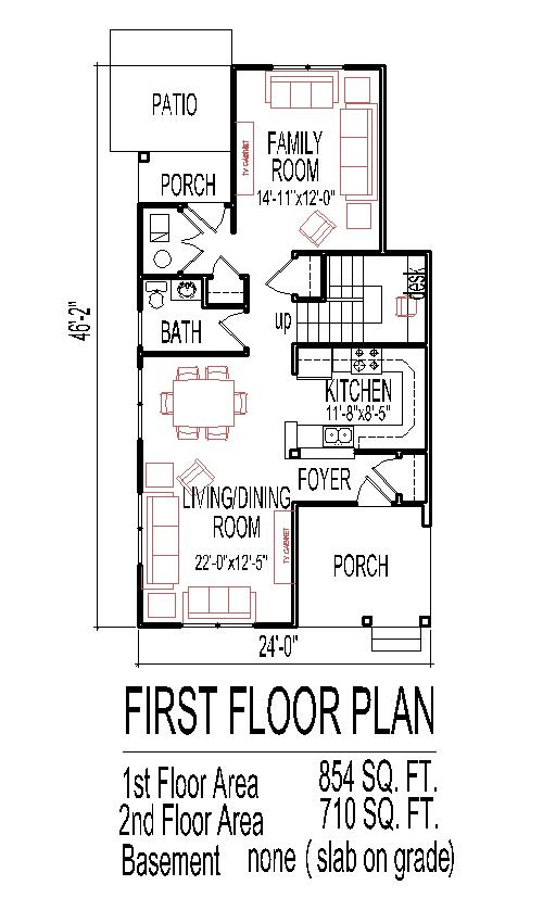 Mean work buy furniture floor plans templates for Narrow lot house plans