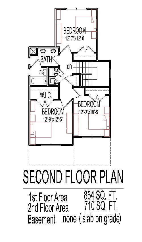 Low Bud House Floor Plans for Small Narrow Lots 3 Bedroom 2 Story