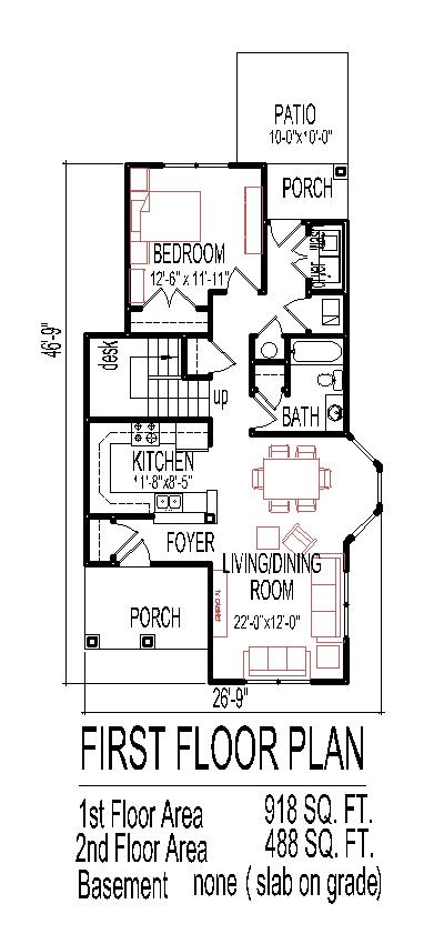 simple narrow lot tiny house plans low cost affordable 2 story 1500 sf 3 bedroom 2 - Small 3 Bedroom House Plans 2