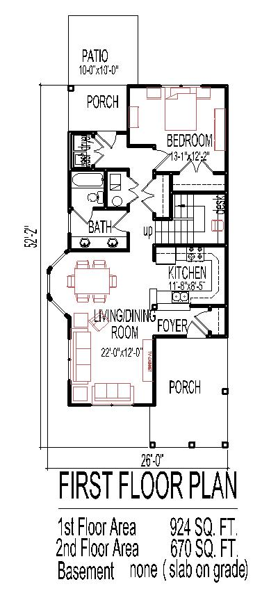 2 Story Small Home Design Narrow Lot Tiny House Floor