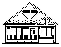 Small Luxury Home Blueprints Drawings 2000 Sq Ft 2 Car Garage 1 Story Two Bedroom 2