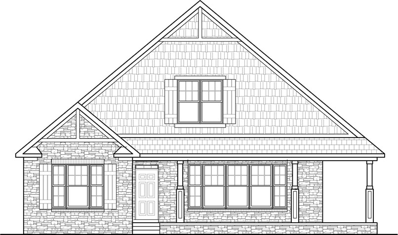 Single story cottage house plans home design and style for Two story house drawing