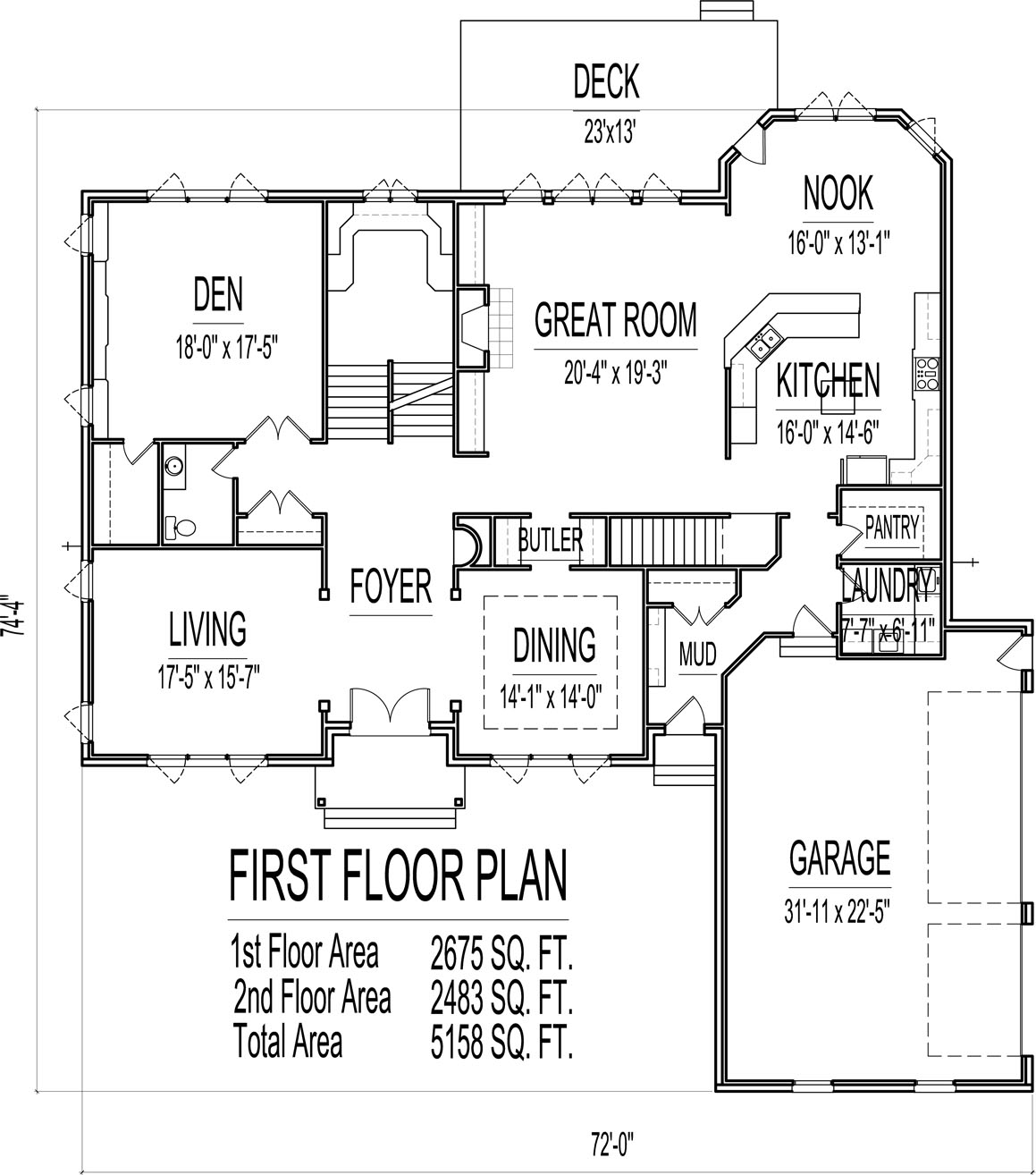5000 Sq Ft House Floor Plans 5 Bedroom 2 Story Designs Blueprints