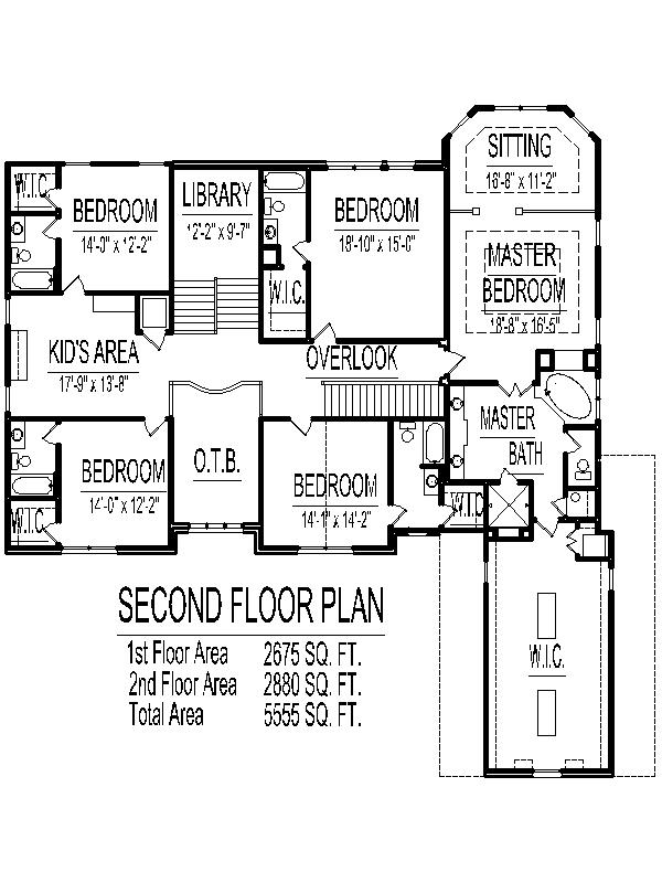 5 Bedroom 2 Story House Plans 5100 Sq Ft Atlanta Augusta Macon Georgia  Columbus Savannah Athens
