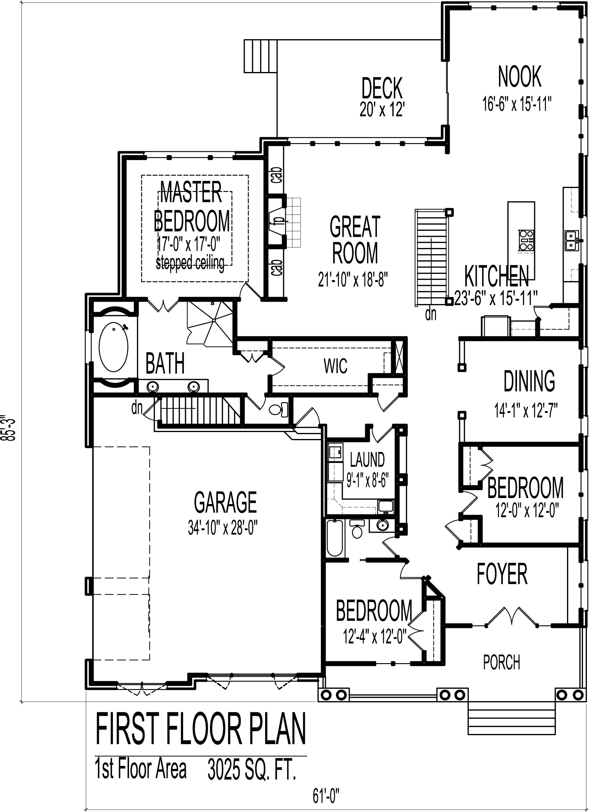 Small udor Style ottage House Floor Plans 3 Bedroom Single Story ... - ^