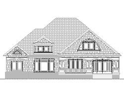 Two Story French Country Custom Architect Designed Home Plans Blueprint Drawings 3 Bedroom 4 Bath 3500 SF 3 Car Garage and Basement Salem Oregon Gresham Duluth Minnesota Bloomington Norman Lawton Oklahoma Broken Arrow Scottsdale Surprise Arizona Gilbert Tempe Peoria Thornton Pueblo Colorado Arvada Westminster Centennial