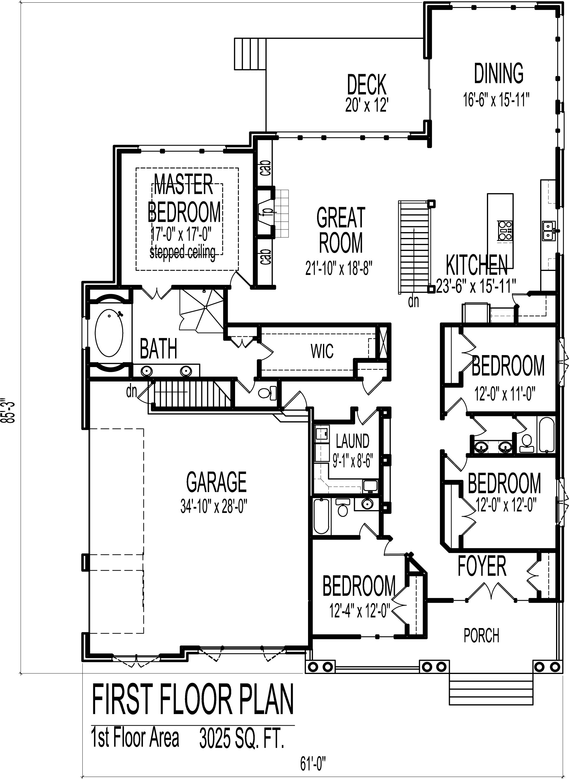 English cottage house floor plans european 4 bedroom 1 story ranch european cottage house design 3000 sf 4 bedroom 3 bath baement 3 car garage chicago peoria malvernweather Choice Image
