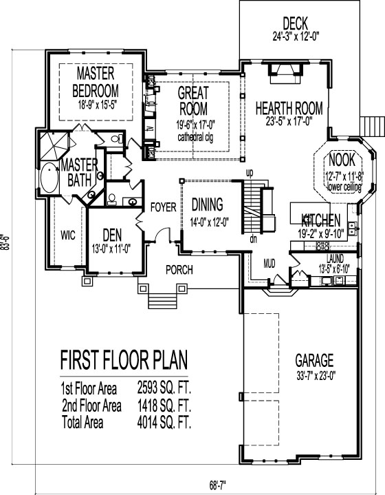 Charleston house plans one floor
