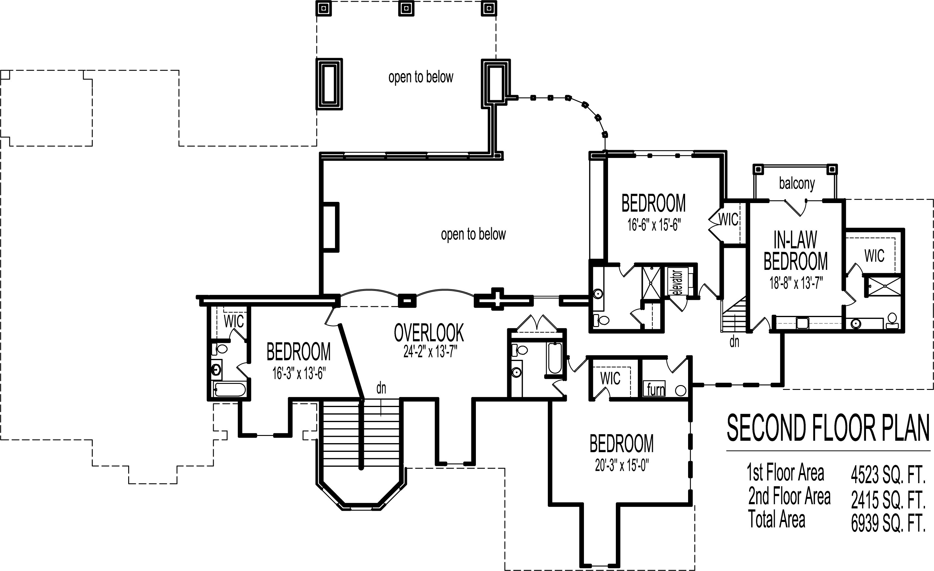 Dream house floor plans blueprints 2 story 5 bedroom large for Dream house plans