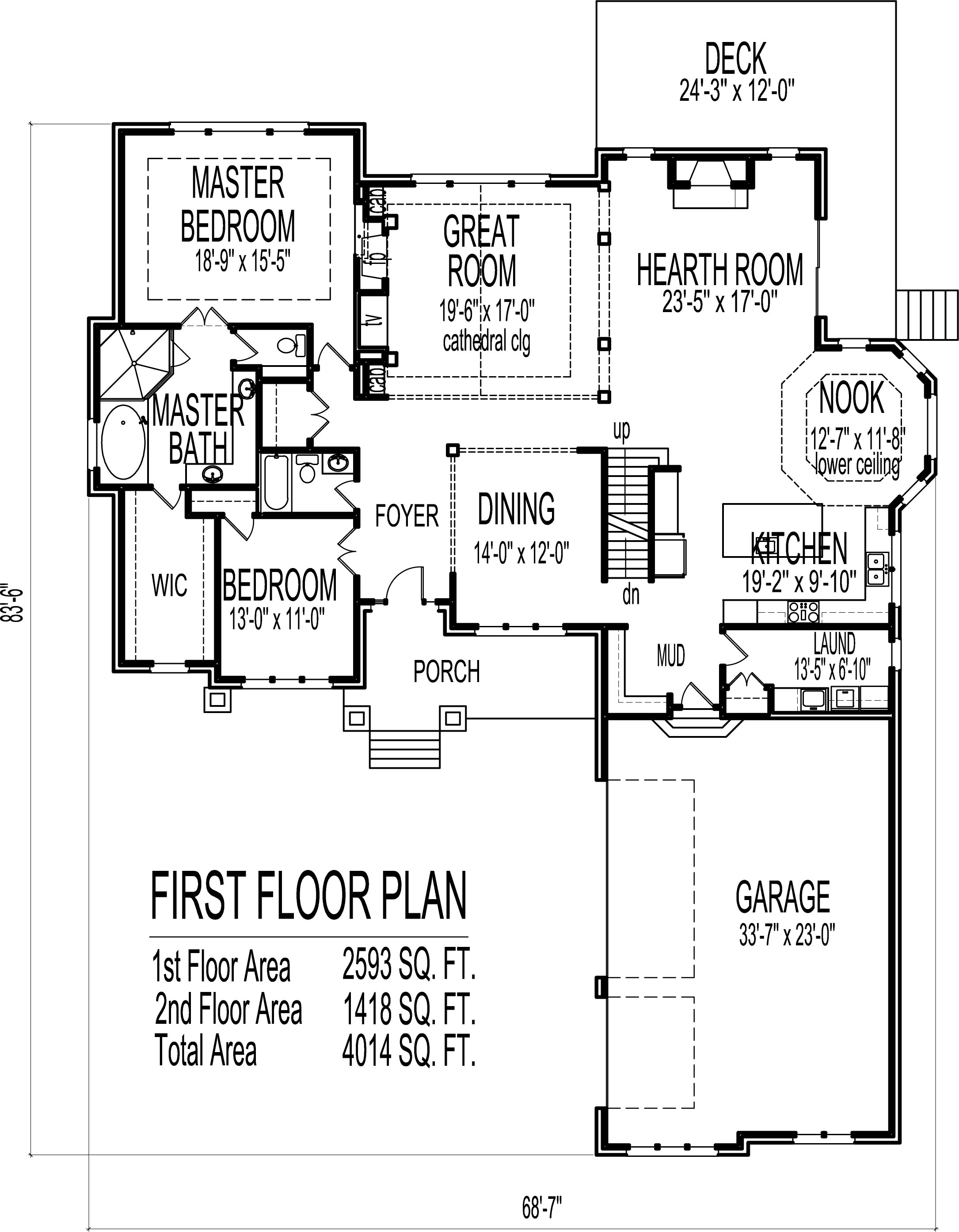 2 story house floor plans 6 bedroom craftsman home design for 6 bedroom house floor plans