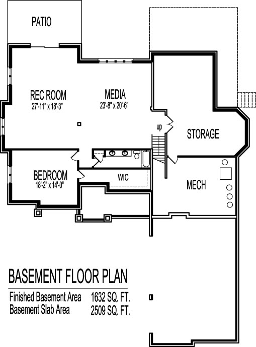 2 story house floor plans 6 bedroom craftsman home design for 5 bedroom house plans with basement