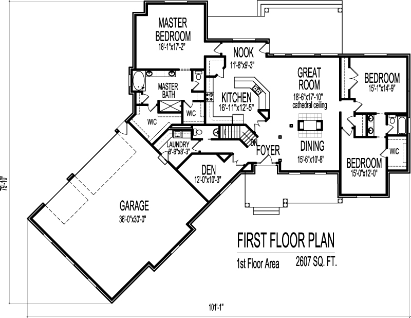 Ranch House Floor Plans with Angled Garage 2500 Sq Ft Bungalow 3 Bedroom – 1500 Sq Ft Ranch House Plans With Garage