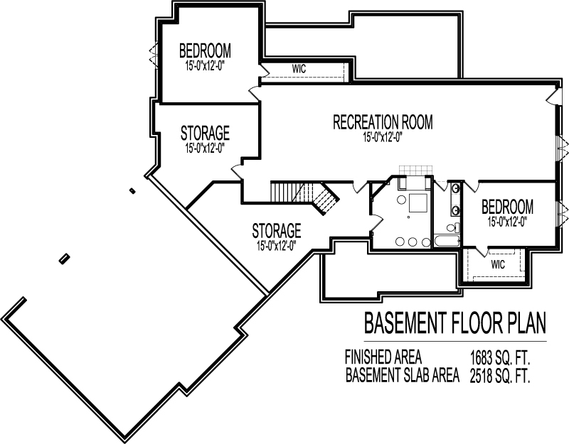 Ranch house floor plans with angled garage 2500 sq ft for Angled garage house plans