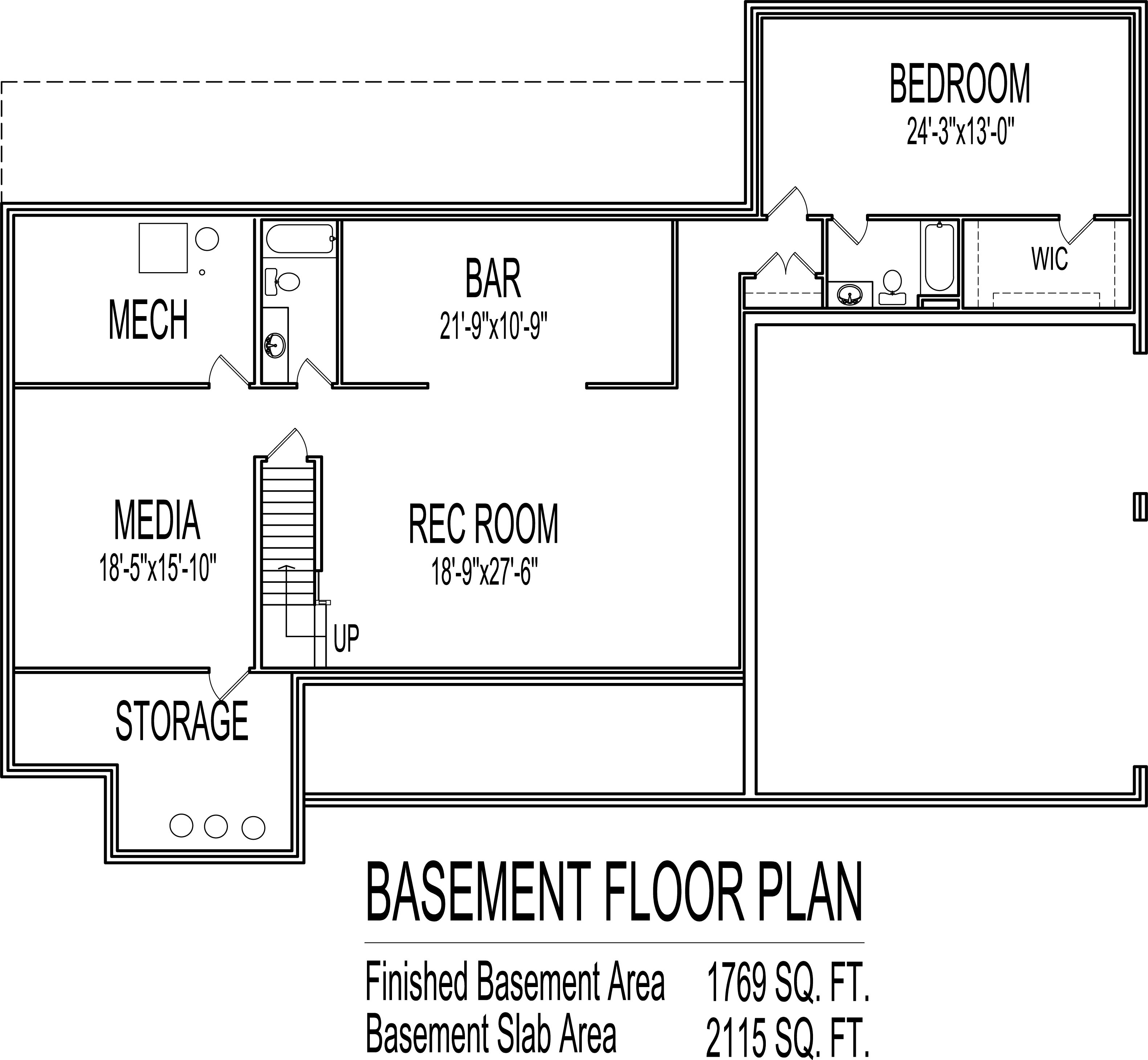 Low cost single story 4 bedroom house floor plans country farm 2200 sf - One level house plans with basement paint ...