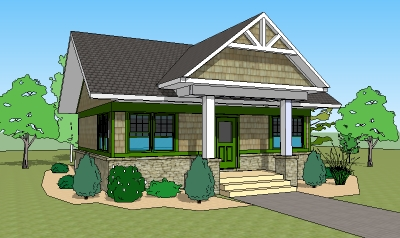 Small two bedroom house plans low cost 1200 sq ft one for Average cost to build a craftsman style home