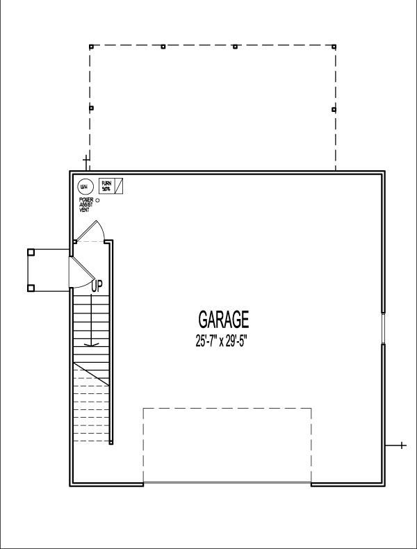 1 Bedroom 2 Story 900 SF House Plans Apartment over Garage Prairie Style Bakersfield Santa Ana California CA Riverside Stockton Fremont Irvine St Louis Springfield MO Missouri Kansas City Independence