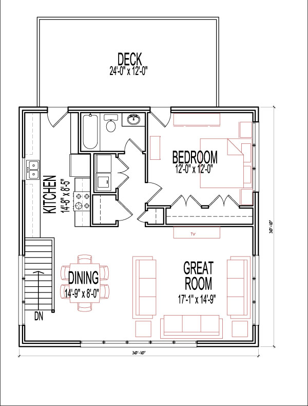 Gentil 1 Bedroom 2 Story 900 SF House Plans Apartment Over Garage Prairie Style  Atlanta Augusta Macon