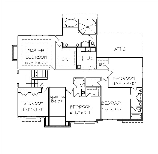 Small Brick House Floor Plans 4000 SF 5 Bedroom 2 Story Design ...