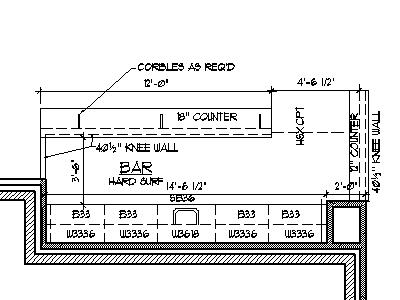 Home Bar Plans Design Blueprints Drawings Back Bar Counter Section ...