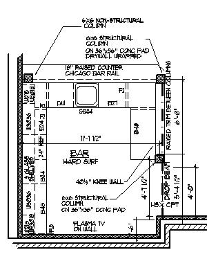 Unfinished basement ideas finished basement bedroom for Basement bar dimensions plans