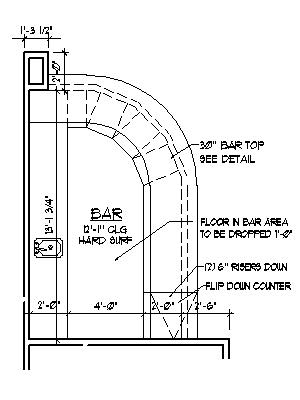 Home bar plans design blueprints drawings back bar counter for Basement bar dimensions plans