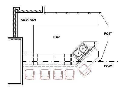 Home Bar Plans Design Blueprints Drawings Back Counter